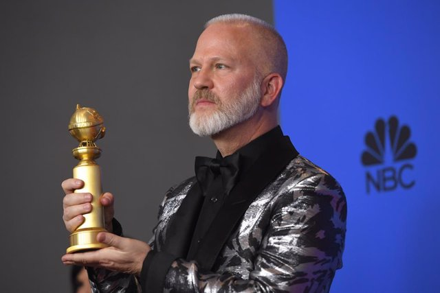 06 January 2019, US, Los Angeles: Ryan Murphy poses with the award of Best Television Limited Series or Motion Picture Made for Television for The Assassination of Gianni Versace: American Crime Story, in the prss room during the 2019 Golden Globe Awards
