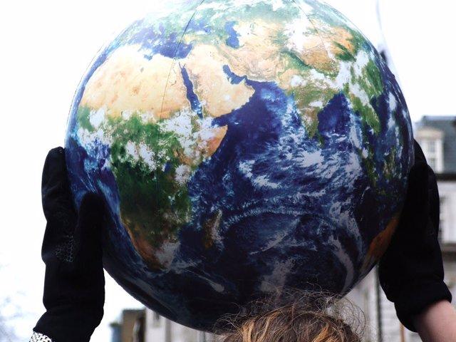 Representación del globo terráqueo.