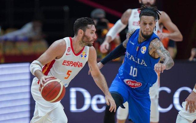 El internacional español de baloncesto Rudy Fernández