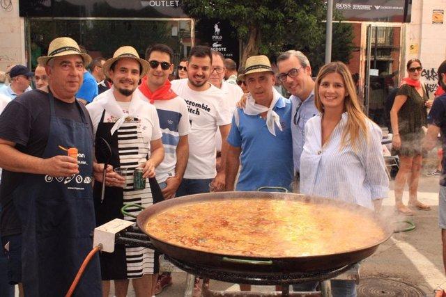La secretaria regional del PP, Carolina Agudo, en las fiestas de Alcázar de San Juan (Ciudad Real).