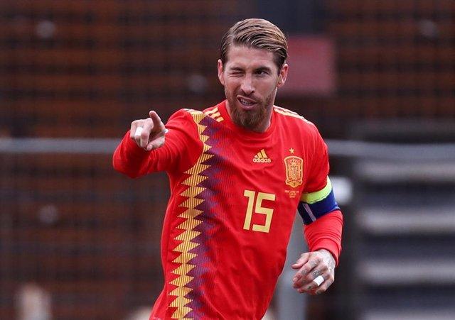 Sergio Ramos con la selección española