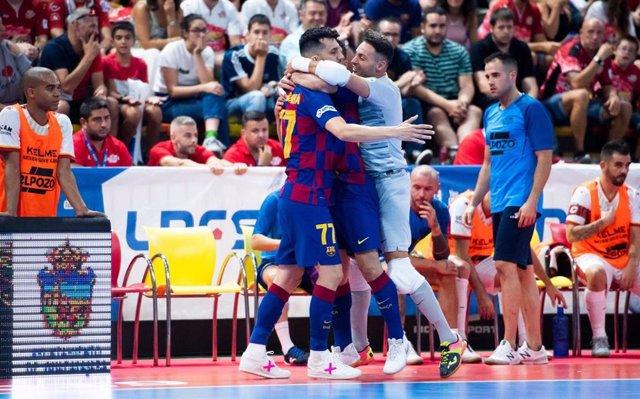 Los jugadores del Barça celebran un gol en la Supercopa de España 2019.