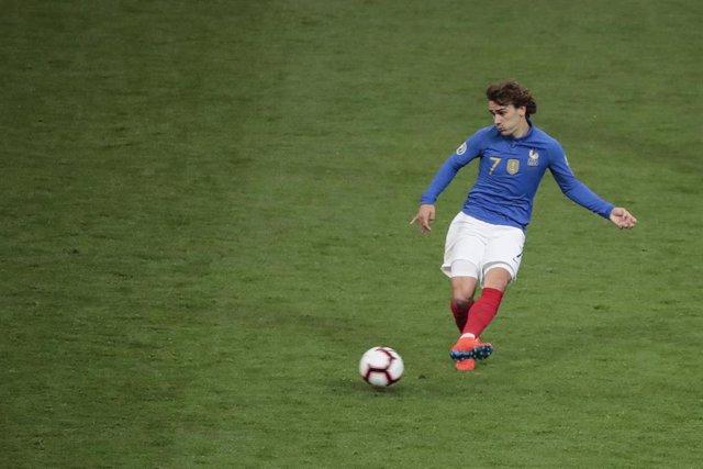 Antoine Griezmann, con la selección de Francia.