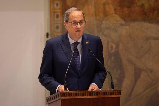 El Presidente Quim Torra. Foto de archivo