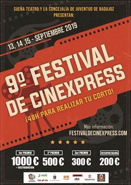 Cartel del IX Festival de Cinexpress de Badajoz