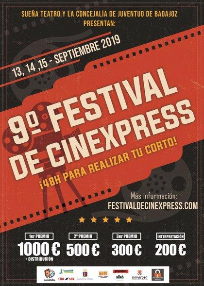 El festival Cinexpress de Badajoz reparte 2.000 euros en premios y está abierto a toda España y el extranjero