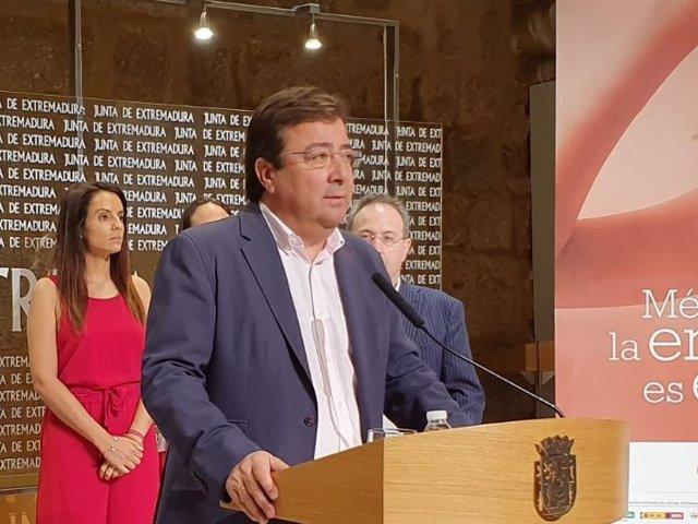 El presidente de la Junta, Guillermo Fernández Vara, en una foto de archivo