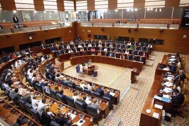 Imagen de recurso del Hemiciclo de la Asamblea de Madrid.