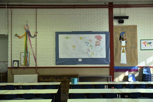 Sala de reuniones del Colegio de Educación Infantil y Primaria (CEIP) 'Joaquín Costa' de Madrid.