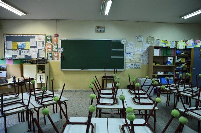 Una de las aulas del Joaquín Costa, donde este curso estudiarán 1.347 alumnos. Foto Óscar Cañas