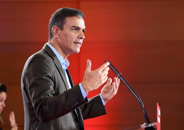 El presidente del Gobierno en funciones, Pedro Sánchez, interviene en la reunión del Consejo Municipal del PSOE en Toledo (Castilla-La Mancha).