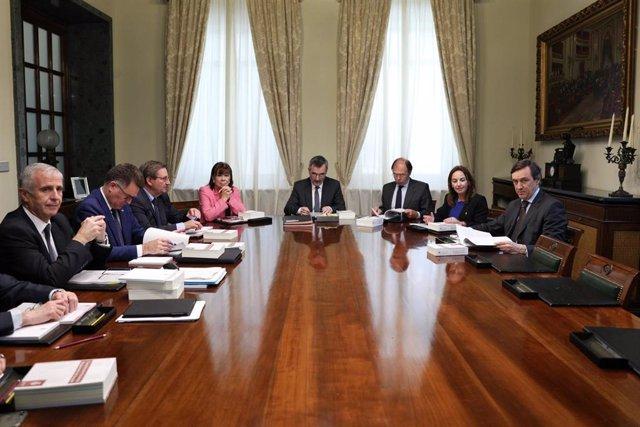 Reunió de la Mesa del Senado de la XIII legislatura