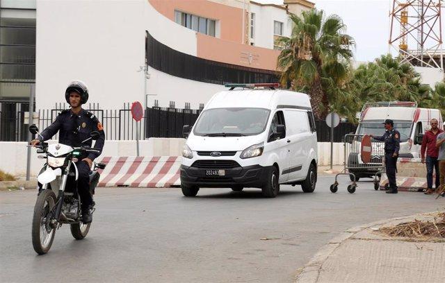 Furgón de la Policía en Marruecos