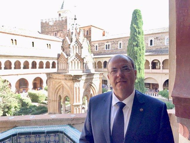 Monago, en el Monasterio de Guadalupe