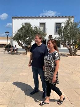El president de la Generalitat Valenciana, Ximo Puig, i la presidenta de Balears, Francina Armengol.