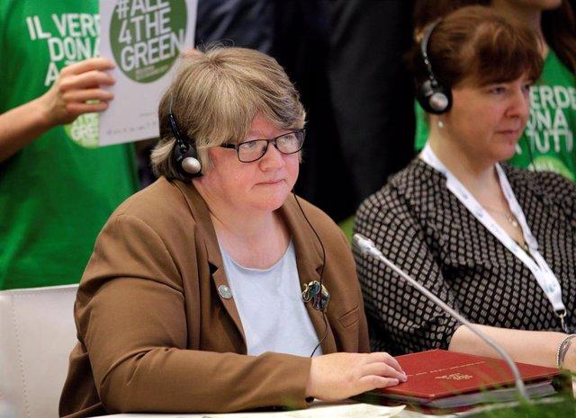 La nueva ministra de Trabajo y Pensiones de Reino Unido, Therese Coffey