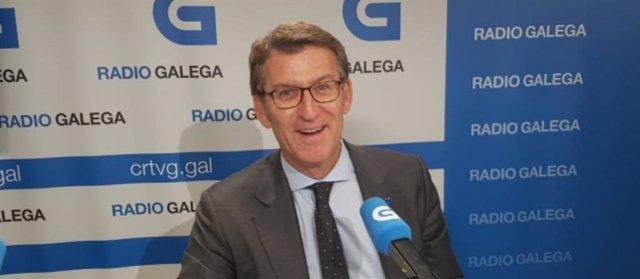 Alberto Núñez Feijóo, en entrevista en la Radio Galega.