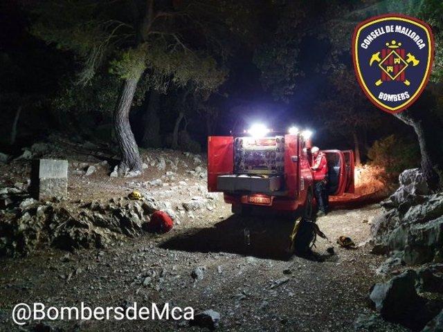 Imatge del rescat dels dos escaladors en Sa Gúbia