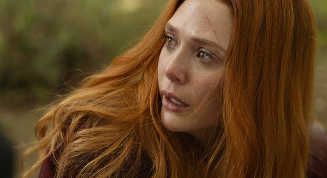 Elizabeth Olsen como Wanda en Infinity War