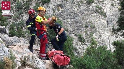 Herido un escalador al precipitarse desde 15 metros de altura en Montanejos (Castellón)