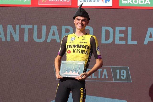 El ciclista estadounidense Sepp Kuss (Jumbo-Visma).
