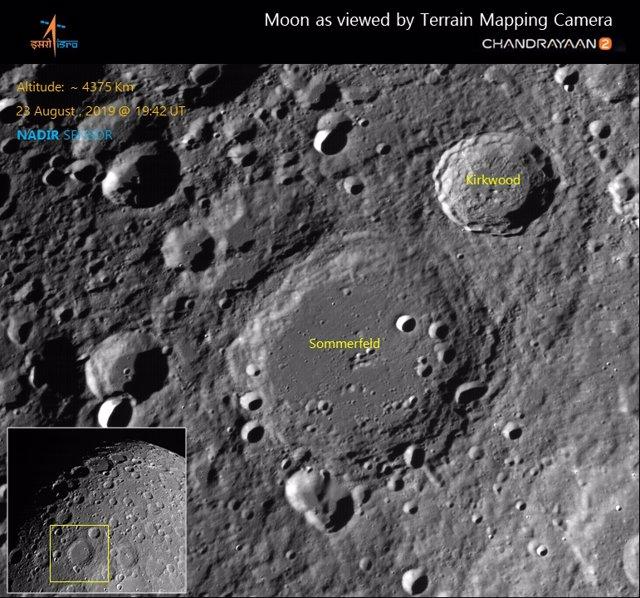 Fotografía india de la Luna
