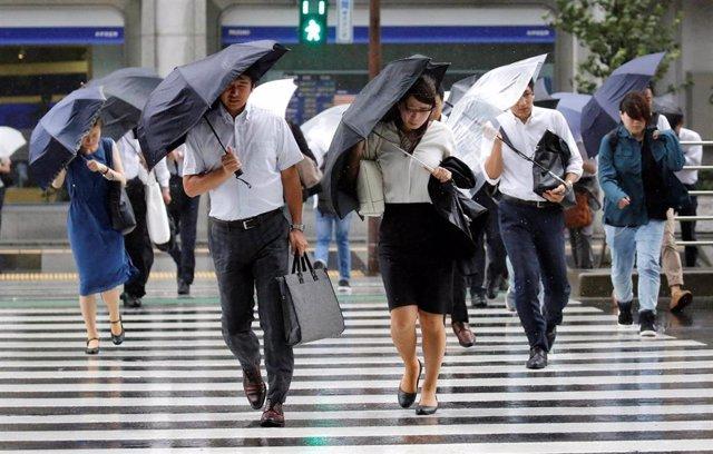 Tifón en Tokio