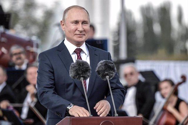 Vladimir Putin, en un discurso con motivo del Día de la Ciudad de Moscú