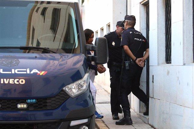 Llegada de Ana Julia Quezada a la Audiencia de Almería