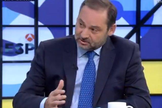 El secretario de Organización del PSOE, José Luis Ábalos, en una entrevista