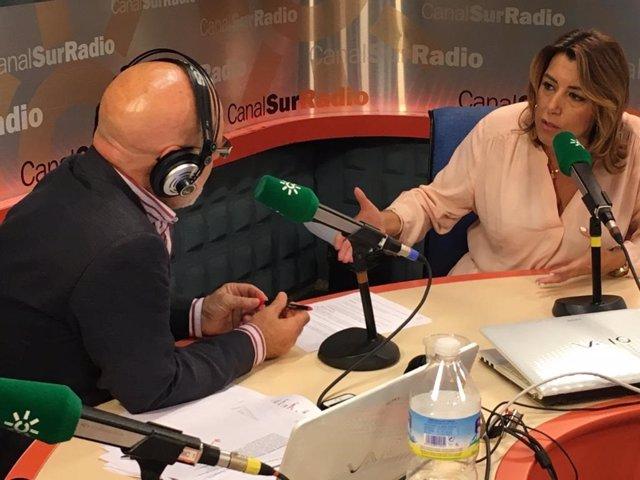 Susana Díaz, este lunes durante la entrevista