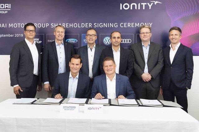 Hyundai y Kia entran en Ionity
