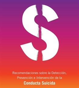 Cartel sobre recomendaciones sobre prevención de conducta suicida.