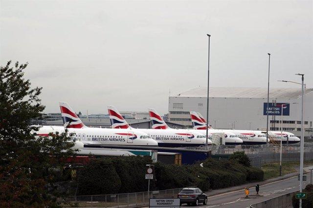 R.Unido.- Bristish Airways cancela casi todos sus vuelos este lunes por la huelg