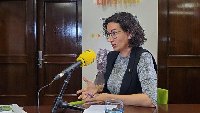 La secretaria general de ERC, Marta Rovira, en una entrevista