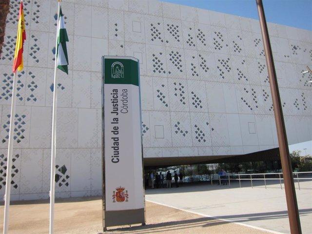 Fachada Norte de la Ciudad de la Justicia de Córdoba.