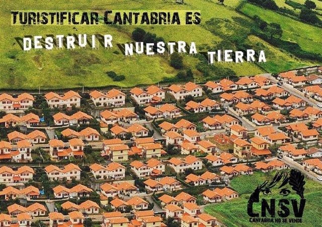 Campaña de Cantabria No se Vende contra la turistificación