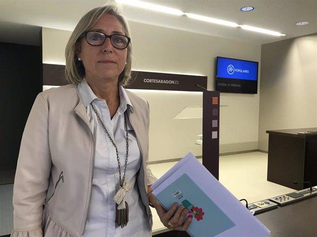 La diputada del PP Aragón Pilar Cortés.
