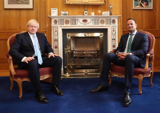 Boris Johnson y Leo Varadkar