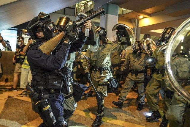 Cargas policiales en Hong Kong