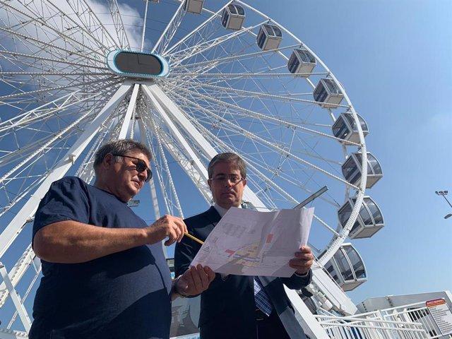 El concejal Jesús Pacheco visita las atracciones de la Feria