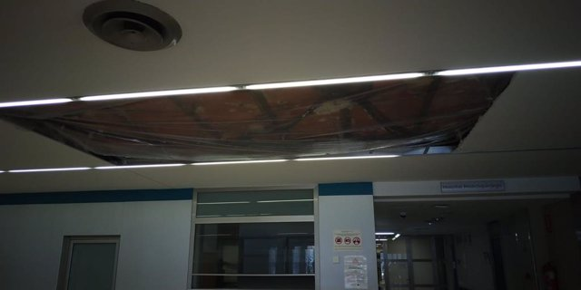 Caída del techo en el Arnau