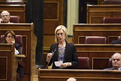 Rosa Díez intervendrá en un acto del PP en el Congreso por la unidad de España un día después de la Diada