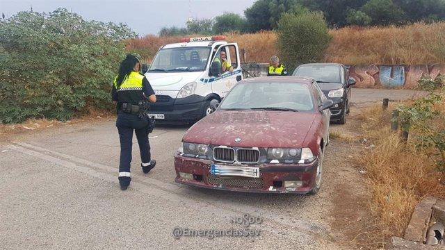 Intervención policial para evitar exhibiciones ilegales de vehículos