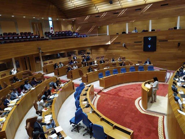 Sesión plenaria del Parlamento de Galicia