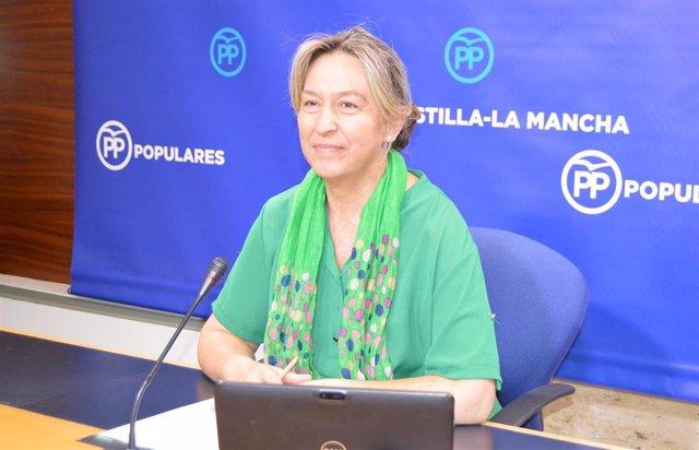 La vicepresidenta segunda de las Cortes de Castilla-La Mancha y diputada regional, Ana Guarinos, en las Cortes.
