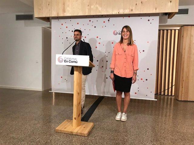 Portaveu d'ECP al Congrés, Jaume Asens, i la presidenta de CatECP en el Parlament, Jéssica Albiach
