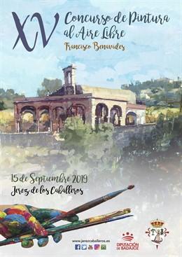 Cartel del XV Concurso de Pintura al Aire Libre 'Francisco Benavides' de Jerez de los Caballeros