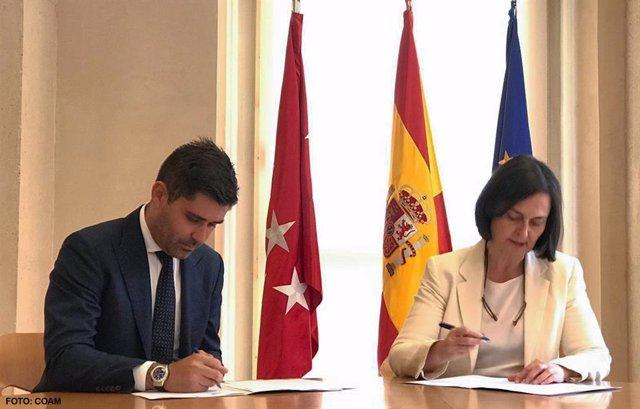 Fútbol.- AFE firma un convenio con el Colegio de Arquitectos de Madrid