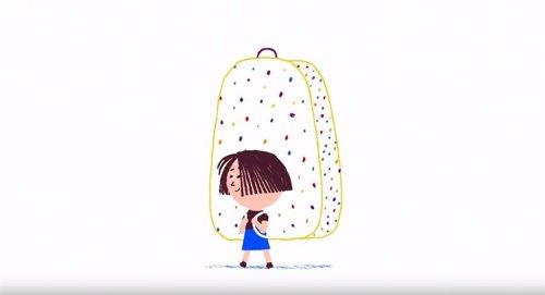 Nora y su mochila menguante, campaña de la FELGTB